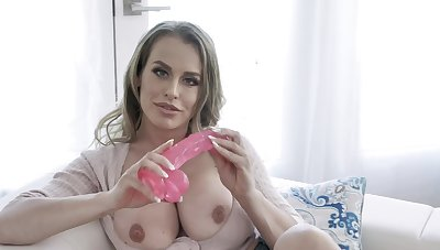 Plump MILF Corinna Blake uses her favorite pink toy for pleasure