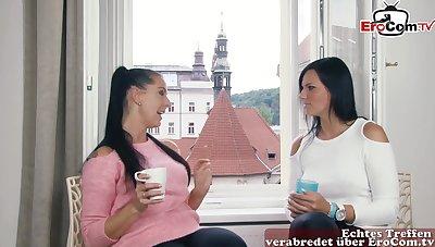 Hot big tits german milf double anal fuck
