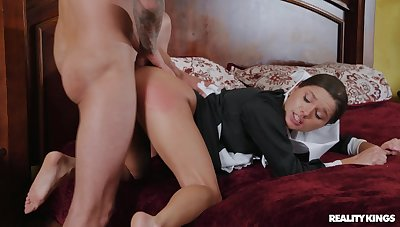 Chaste beauty Zoe Bloom sees some life-altering sex action